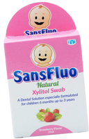 SansFluo Natural Xylitol Swab Solution 10ml