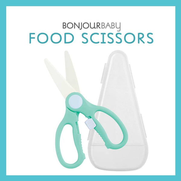 Bonjour Baby Ceramic Food Scissors w/ Safety Lock