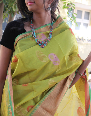 Leaf Green Narayanpet Silk
