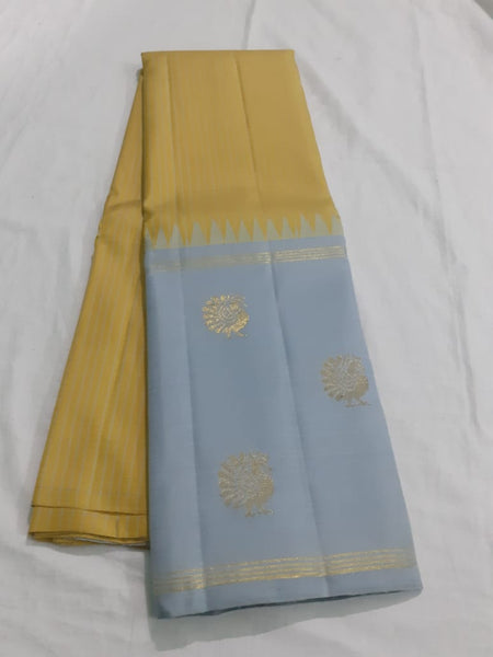 Gold Kanjeevaram Silk Saree