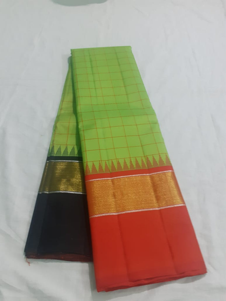 Green Kanjeevaram Silk Saree