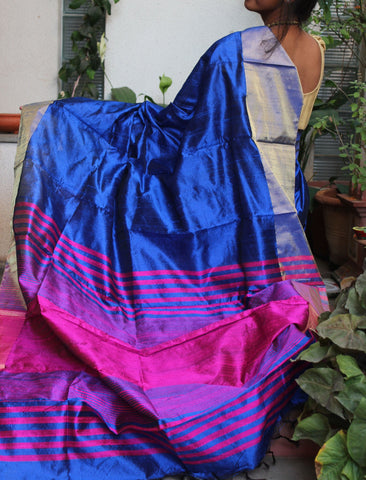 Royal Blue Raw Silk