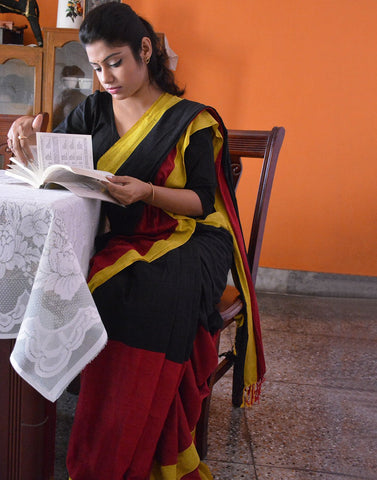 Multicolour Bengal Handloom Saree