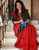 Beautiful Red Bengal Ashina Silk Saree