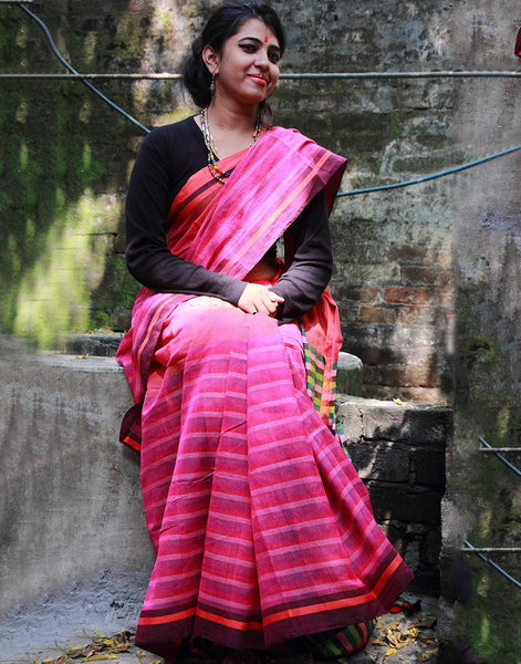 Multicoloured Cotton Gamchha Saree