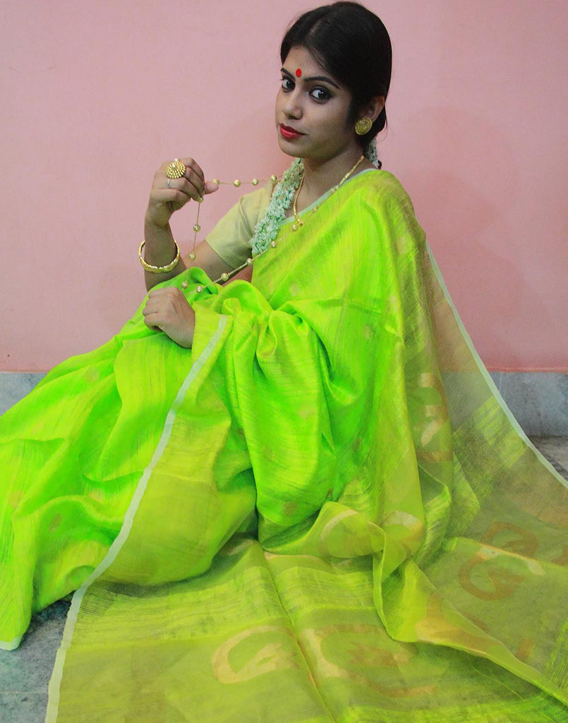 Green Motka Silk Saree