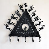 Wrought Iron 5 Hook key chain Holder