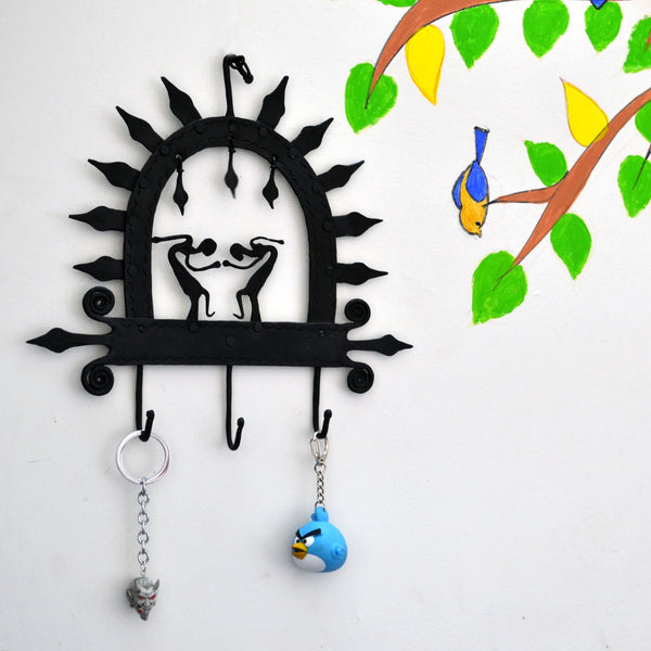 Wrought Iron 3 Hook key chain Holder