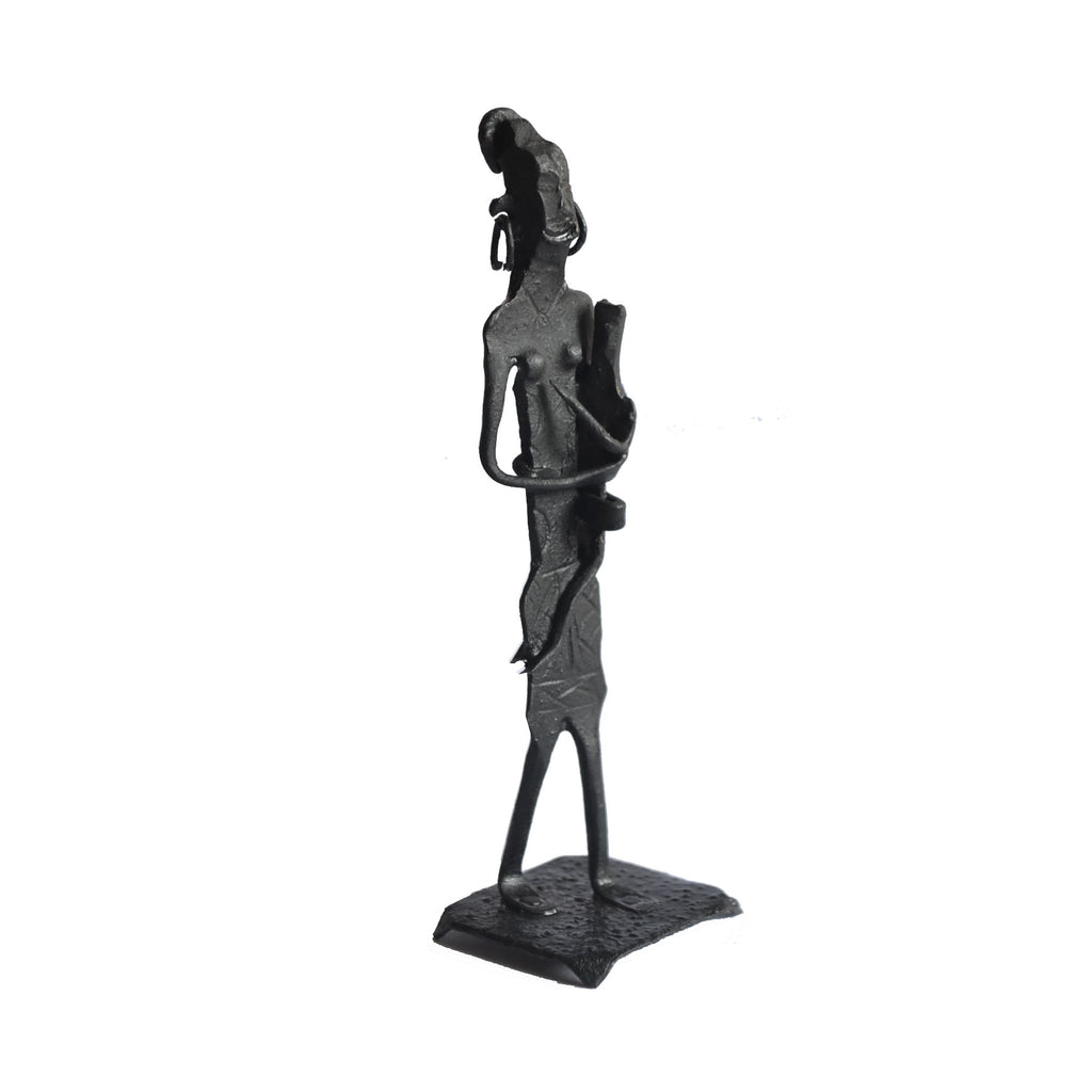Wrought Iron Tribal Mother Child showpiece Figurine