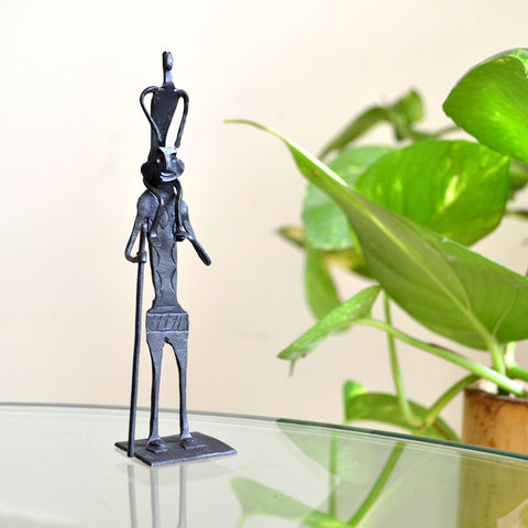 Wrought Iron Tribal Father son showpiece Figurine