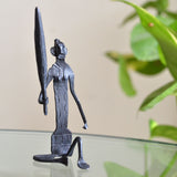 Wrought Iron Tribal Woman showpiece Figurine