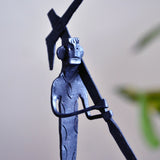 Wrought Iron Tribal Farmer at Field showpiece Figurine