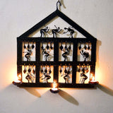 Wrought Iron 3 candle holder wall Decorative