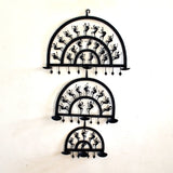 Wrought Iron 9 candle holder wall Decorative