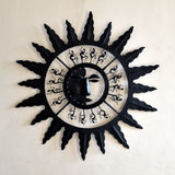 Wrought Iron Abstract Sun Wall Decorative