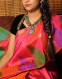 Pink Bendex Silk Saree