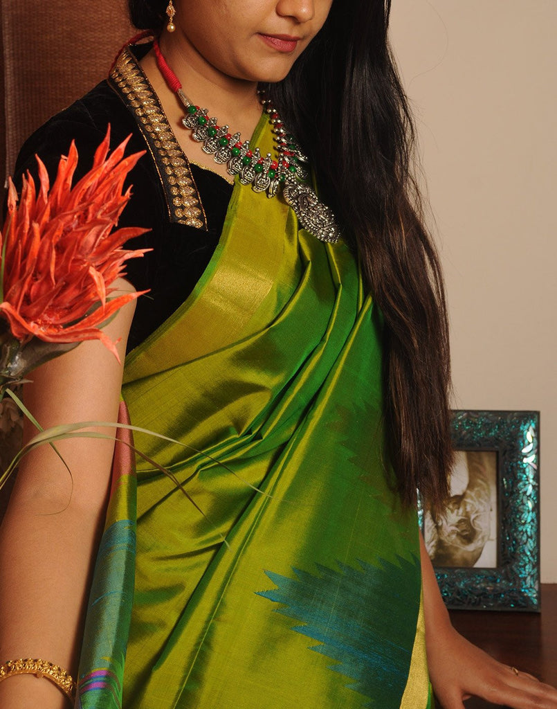 Rich Green Bendex  Silk Saree