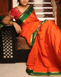 Orange Mysore silk Saree