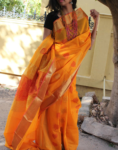 Mustard Yellow Narayanpet Silk