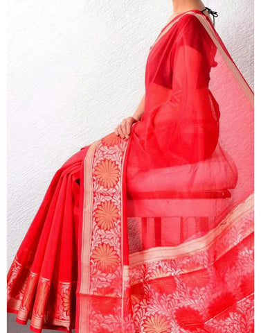 Red Banaras Handloom Saree