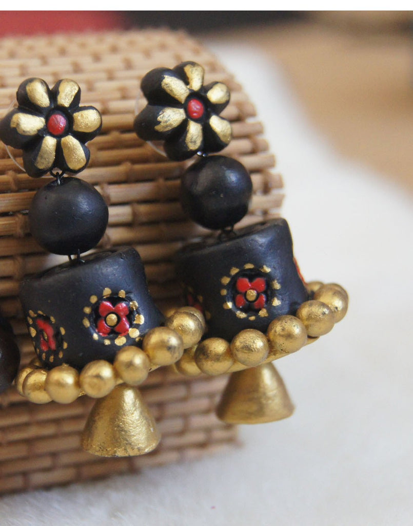 Handcrafted Terracotta Jhumkas