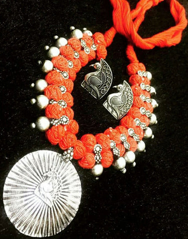 Thread With Sun Pendent Set