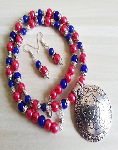 Pink Blue Bead Set