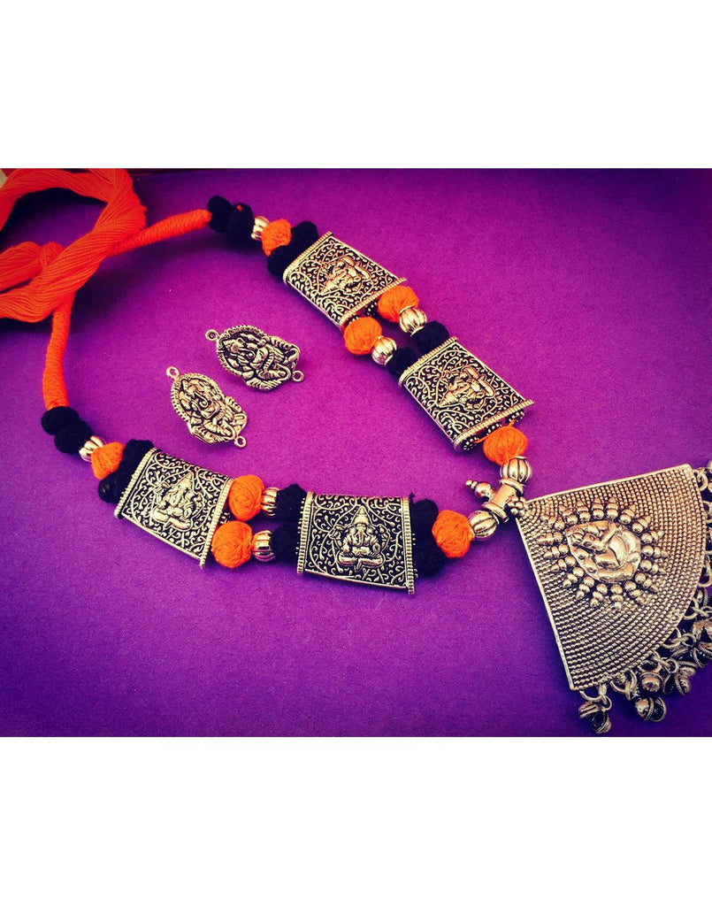 Thread With Ganesh Pendent Set