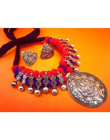 Thread With Laxmi Pendent Set