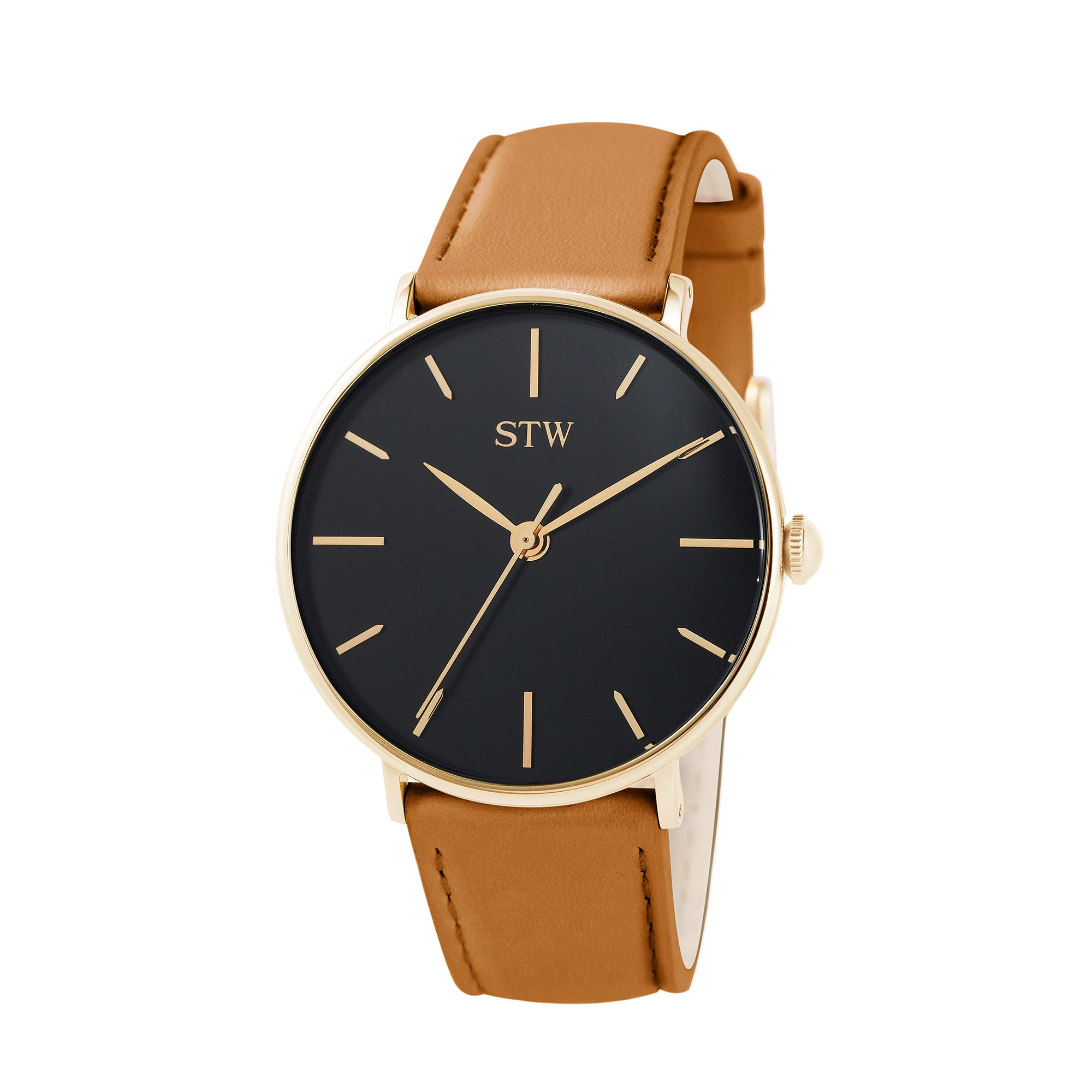 THE HERITAGE -  BLACK DIAL / OLIVE LEATHER STRAP WATCH