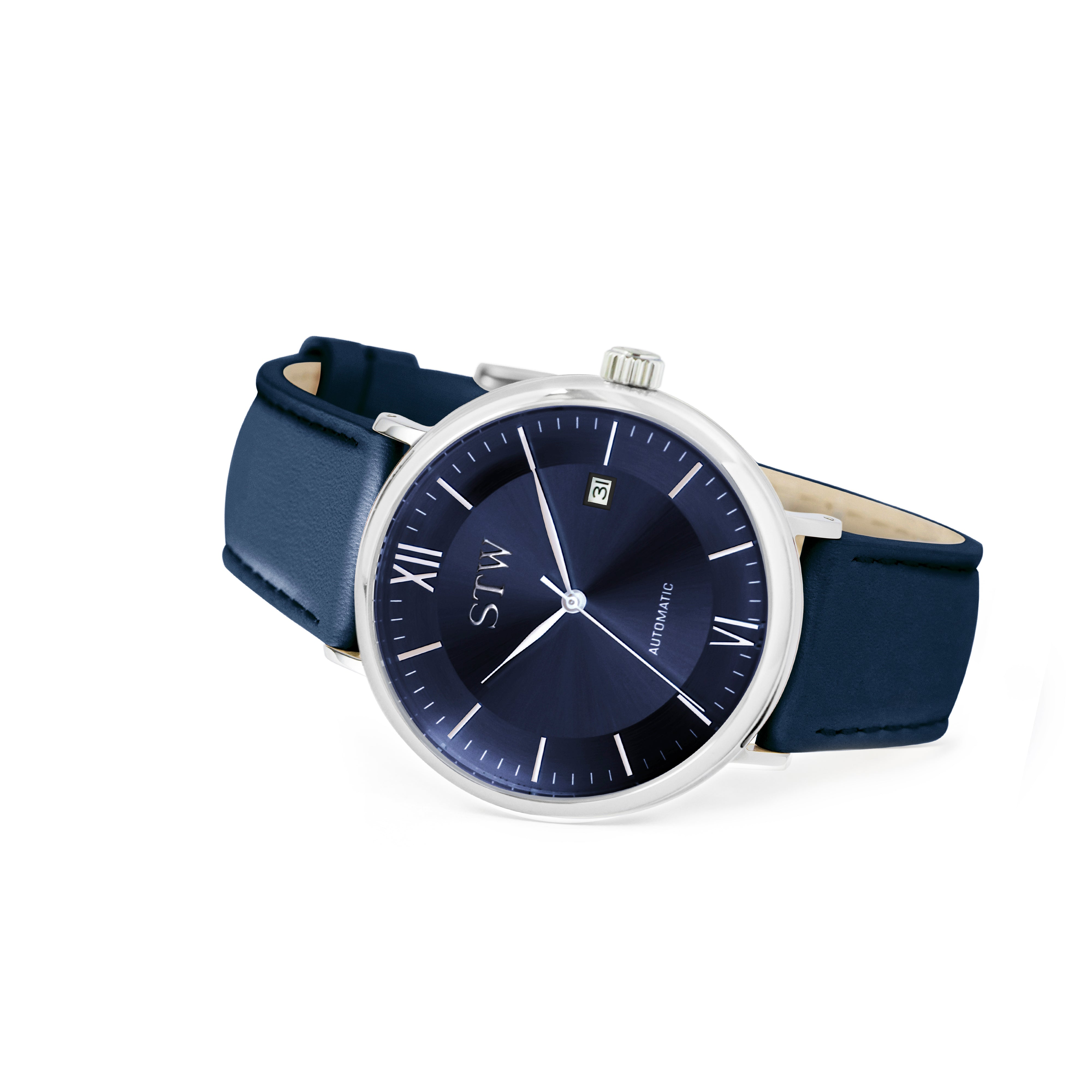 THE AUTO -  BLUE DIAL / BLUE LEATHER STRAP WATCH