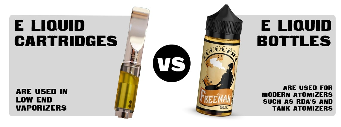 E-LIQUID CARTRIDGES VS BOTTLES