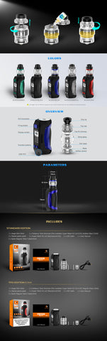 geekvape aegis mini kit with cerberus tank with 5.5 ml vape juice capacity