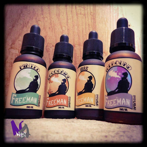 samples of different types of vape juice