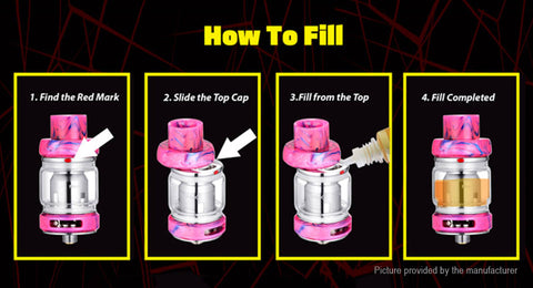sliding top fill feature on the freemax mesh pro vape tank