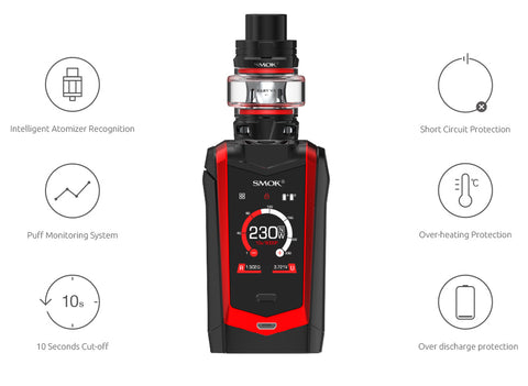 image of smok species along with the vaping features