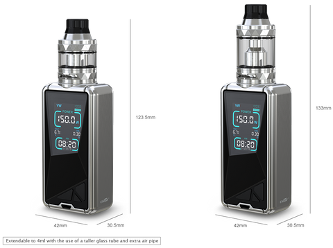 eleaf tessera 150 watt tc mod and ello ts vape tank kit review