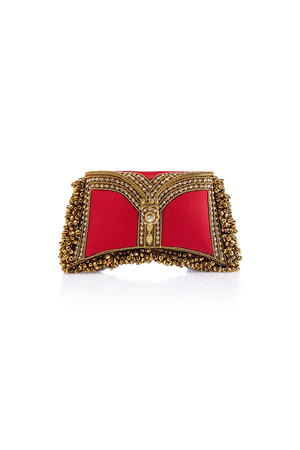 Zeenat Clutch Red