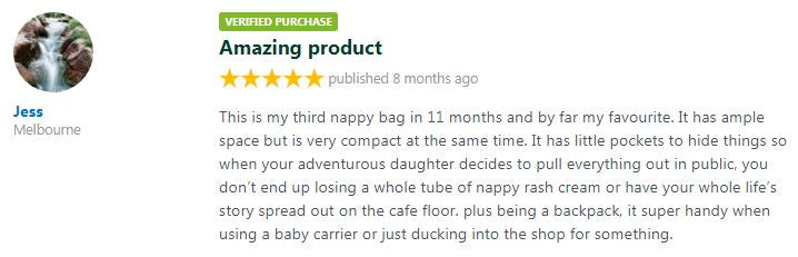 productreview.com.au amazing baby bag