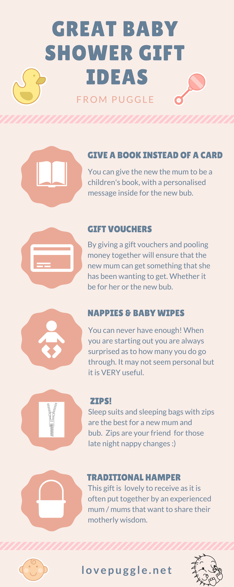 Baby Shower Gift Ideas Infographic