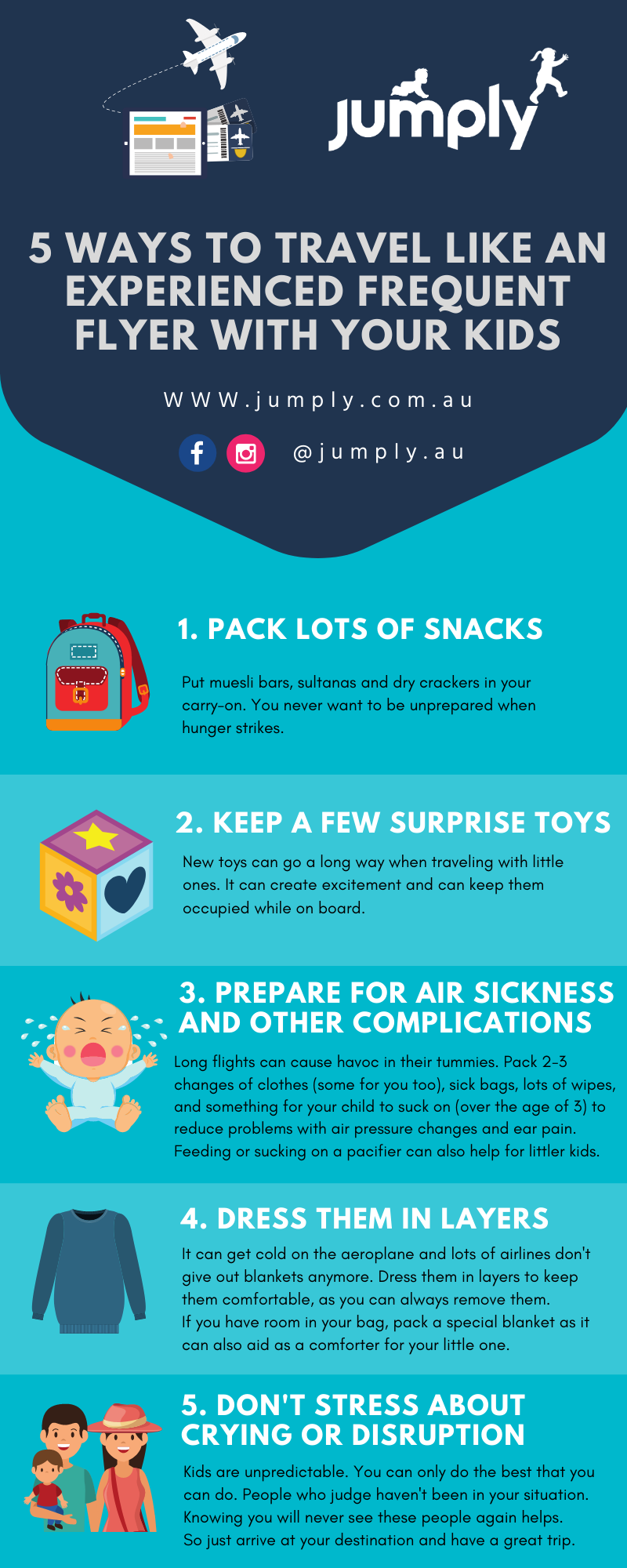 Travel like an experienced frequent flyer with kids