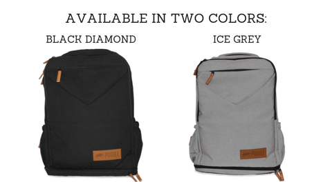 nappy backpack black grey