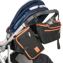 Puggle Pram Organiser changing wallet black on pram