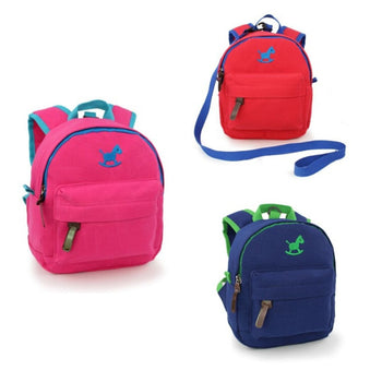 toddler harness backpack blue pink red