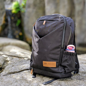adventure nappy backpack black side