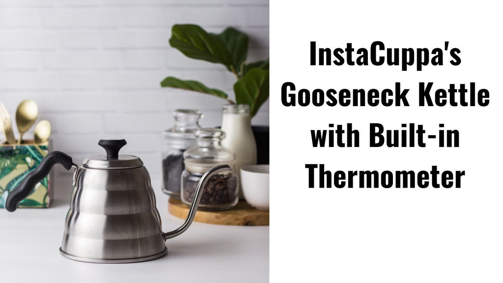 InstaCuppa Gooseneck Kettle with Built-in Thermometer
