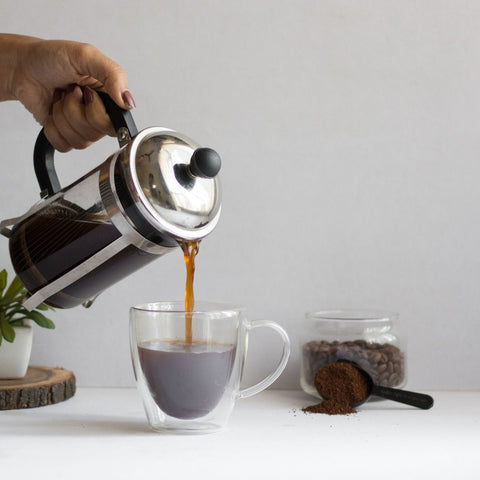 InstaCuppa French Press Coffee Maker with Easy To Pour V-Spout