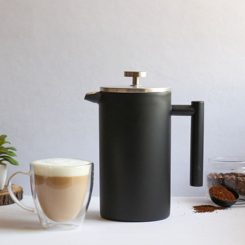 InstaCuppa Stainless Steel French Press Coffee Maker - Perfect for Making Coffee Cappuccinos