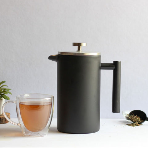 InstaCuppa Stainless Steel French Press Coffee Maker - Perfect For Brewing Green Tea