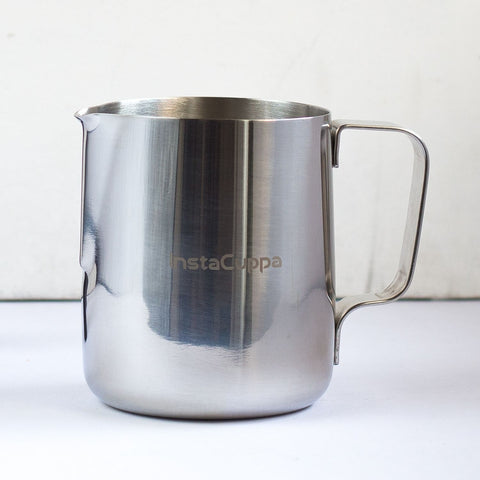 InstaCuppa Milk Frothing Pitcher Jug with Mirror Polished Smooth Finishing